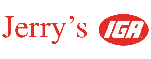 A theme footer logo of Jerry's IGA